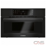 Bosch 500 Series HMB50162UC Built In Microwave, 30 Exterior Width, 950W Watts, 1.6 cu. ft. Capacity, Stainless Steel Interior, Black colour