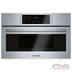 Bosch 800 Series HMC80252UC Speed Oven, 1.6 Capacity, 30 Exterior Width, Convection, 1000 Watts, Stainless Steel Interior, Stainless Steel colour