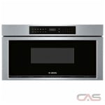 Bosch 800 Series HMD8053UC Microwave Drawer, 30 Exterior Width, 950W Watts, 1.2 cu. ft. Capacity, Stainless Steel colour