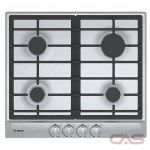 Bosch 500 Series NGM5455UC Cooktop, Gas Cooktop, 24 inch, 4 Burners, Stainless Steel colour