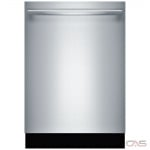 Bosch 800 Series SHXM88Z75N Built-In Undercounter Dishwasher, 24 Exterior Width, 6 Wash Cycles, Stainless Steel (Interior), 3 Loading Racks, Fully Integrated, 16 Capacity (Place Settings), 40 dB Decibel Level, Stainless Steel colour