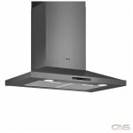 Bosch 800 Series HCP80641UC Range Hood, 30 Exterior Width, Chimney, Accepts Both, Halogen, 600 CFM, Wall Mounted, Dishwasher Safe Filters, Aluminum Mesh, Black Stainless Steel colour Blower Included