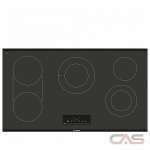 Bosch 800 Series NET8668UC Cooktop, Electric Cooktop, 36 inch, 5 Burners, 3600W, Black colour