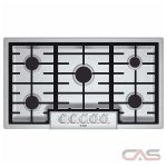 Bosch Benchmark Series NGMP655UC Cooktop, Gas Cooktop, 36 inch, 5 Burners, Stainless Steel colour