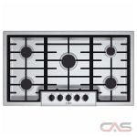 Bosch 500 Series NGM5655UC Cooktop, Gas Cooktop, 36 inch, 5 Burners, Stainless Steel colour
