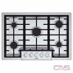 Bosch 800 Series NGM8055UC Cooktop, Gas Cooktop, 30 inch, 5 Burners, Stainless Steel colour