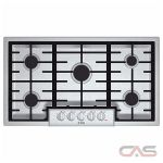 Bosch 800 Series NGM8655UC Cooktop, Gas Cooktop, 36 inch, 5 Burners, Porcelain Enamel