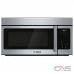 Bosch 300 Series HMV3053C Over the Range Microwave, 30 Exterior Width, 1000 Watts, 1.6 Capacity, LED, 300 CFM, Stainless Steel colour
