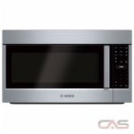 Bosch 500 Series HMV5053C Over the Range Microwave, 30 Exterior Width, 1000W Watts, 2.1 cu. ft. Capacity, LED, 385 CFM, Stainless Steel colour