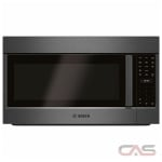 Bosch 800 Series HMV8044C Over the Range Microwave, 30 Exterior Width, Convection, 1000W Watts, 1.8 cu. ft. Capacity, LED, Stainless Steel Interior, 385 CFM, Black Stainless Steel colour