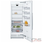 Bosch Benchmark Series B30IR900SP Built In Refrigerator, 30 Width, Energy Efficient, 16.8 Capacity, LED Lighting, Panel Ready