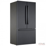 Bosch 800 Series B36CT80SNB French Door Refrigerator, 36 Width, Freezer Located Ice Dispenser, 21.0 cu. ft. Capacity, Counter Depth, Interior Water Dispenser, LED Lighting, ENERGY STAR Certified, Black Stainless Steel colour