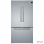 Bosch 800 Series B36CT80SNS French Door Refrigerator, 36 Width, Freezer Located Ice Dispenser, 21.0 cu. ft. Capacity, Counter Depth, Interior Water Dispenser, LED Lighting, ENERGY STAR Certified, Stainless Steel colour