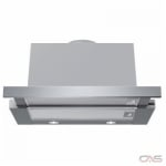 Bosch 500 Series HUI54452UC Range Hood, 24 Exterior Width, Slide-Out, Accepts Both, Halogen, 400 CFM, Under-Cabinet, Dishwasher Safe Filters, Aluminum Mesh, Stainless Steel colour Blower Included