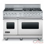 Brigade CVDSC5486GSS Range, Dual Fuel Range, 48 inch, Self Clean, Convection, 6 Burners, Sealed Burners (Gas), 7.3 cubic ft, Free Standing, Stainless Steel colour