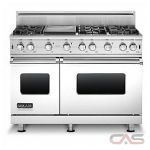 Brigade CVGCC5486GSS Range, Gas Range, 48 inch, Convection, 6 Burners, Sealed Burners (Gas), 6.1 cubic ft, Free Standing, Stainless Steel colour