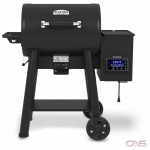 "Broil King 493051 BBQ Grill, 52 19/50"" Width, Freestanding, Wood Pellet, 570 sq. in. Cooking Area, Cast Iron Grate Construction, Black colour"