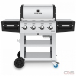 Broil King 885114 BBQ Grill, Freestanding, Liquid Propane, 4 Burners, 695 Cooking Area, Stainless Steel Grate Construction, 50K, Stainless Steel colour