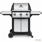Broil King 946854, 56.5 Width, Freestanding, Liquid Propane, 3 Burners, 635 Cooking Area, Cast Iron Grate Construction, 40K, Stainless Steel colour