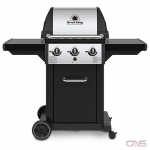 Broil King Monarch 834254, 51.8 Width, Liquid Propane, 3 Burners, 520 Cooking Area, 30000 Burner Output