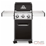 Broil King Baron 921154, 50 Width, Liquid Propane, 3 Burners, 440 Cooking Area, 30000 Burner Output