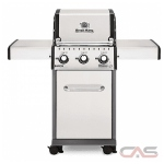 Broil King Baron 921554, 50 Width, Liquid Propane, 3 Burners, 440 Cooking Area, 30000 Burner Output, Stainless St colour