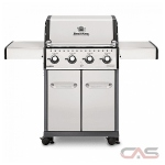 Broil King Baron 922554, 57 Width, Liquid Propane, 4 Burners, 644 Cooking Area, 44000 Burner Output, Stainless Steel colour