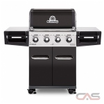 "Broil King Regal 956214 BBQ Grill, 56.3"" Width, Liquid Propane, 4 Burners, 695 sq. in. Cooking Area, 50000 BTU Burner Output, Black colour"