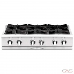 Capital CGRT366 Rangetop, Gas Cooktop, 36 inch, 6 Burners, 25K BTU, Stainless Steel colour