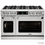 Capital COB488 Range, Dual Fuel Range, 48 Exterior Width, Self Clean, Convection, 8 Burners, Open Burners (Gas), 7.8 cu. ft. Capacity, 2 Ovens, Free Standing, 25K BTU, Stainless Steel colour
