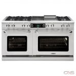 Capital COB604B4 Range, Dual Fuel Range, 60 Exterior Width, Self Clean, Convection, 8 Burners, Open Burners (Gas), 9.0 cu. ft. Capacity, 2 Ovens, Free Standing, 25K BTU, Stainless Steel colour