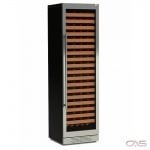 Cavavin M151SSGBRFBTTV1 Wine Cooler, 24 Width, Free Standing & Built In, 151 Wine Bottle Capacity, Stainless Steel colour
