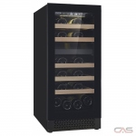 Cavavin V-024WDZFG Wine Cooler, 15 Width, Free Standing, 24 Wine Bottle Capacity, Black colour