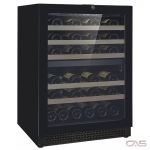 Cavavin V-041WDZFG Wine Cooler, 24 Width, 41 Wine Bottle Capacity, Black colour