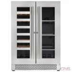 Cavavin V-87WBVC Beverage Center, 25 79/100 Width, Free Standing, 21 Wine Bottle Capacity, Stainless Steel colour