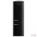 Chambers CRBR2412-BR Bottom Mount Refrigerator, 24 Width, Energy Efficient, 11.7 Capacity, LED Lighting, Black colour