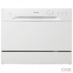 Danby DDW621WDB Portable Dishwasher, 6 Wash Cycles, Stainless Steel (Interior), 2 Loading Racks, Full Console, 6 Capacity (Place Settings), 52 dB Decibel Level, White colour