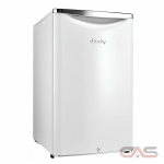 Danby DAR044A6PDB Compact Refrigerator, 20 3/4 Width, Energy Efficient, Metallic White colour All Refrigerator