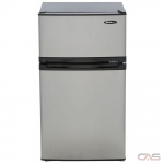 "Danby DCR031B1BSLDD Compact Refrigerator, 18 11/16"" Width, ENERGY STAR Certified, Stainless Steel colour"