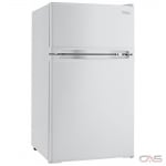 "Danby DCR031B1WDD Compact Refrigerator, 18 7/8"" Width, ENERGY STAR Certified, White colour"