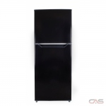 Danby DFF101B1BDB Top Mount Refrigerator, 24 Width, 10.1 cu. ft. Capacity, LED Lighting, Black colour