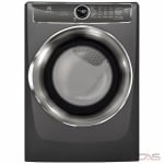 "Electrolux EFMC627UTT Dryer, 27"" Width, Electric Dryer, 8.0 cu. ft. Capacity, 9 Dry Cycles, 5 Temperature Settings, Stackable, Steel Drum, Steam Clean, Titanium colour"
