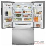 Electrolux EI23BC32SS, 36 Width, Freezer Located Ice Dispenser, Energy Efficient, 22.4 Capacity, Counter Depth, LED Lighting, Stainless Steel colour
