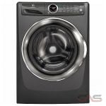 Electrolux EFLS527UTT Front Load Washer, 27 Width, Energy Efficient, 5.0 Capacity, 9 Wash Cycles, 5 Temperature Settings, Stackable, 130 Washer Spin Speed, Steam Clean