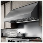 Elica ECL142S2 Range Hood, 42 Exterior Width, Canopy, Outside / Ducting, Halogen, 1200 CFM, Dishwasher Safe Filters, Baffle Filter, Stainless Steel colour Blower Included