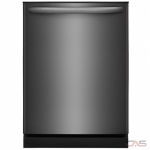 Frigidaire FFID2426TD Built-In Undercounter Dishwasher, 24 Exterior Width, 4 Wash Cycles, 2 Loading Racks, 14 Capacity (Place Settings), Hard Food Disposal, 54 Decibel Level, Black Stainless Steel colour