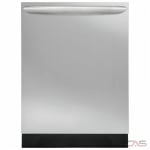 Frigidaire Gallery FGID2466QF Built-In Undercounter Dishwasher, 24 Exterior Width, 8 Wash Cycles, 2 Loading Racks, Fully Integrated, 12 Capacity (Place Settings), 52 dB Decibel Level, Stainless Steel colour