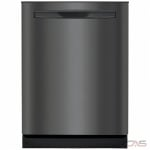 Frigidaire Gallery FGIP2468UD Built-In Undercounter Dishwasher, 24 Exterior Width, 8 Wash Cycles, 2 Loading Racks, Fully Integrated, 14 Capacity (Place Settings), Hard Food Disposal, 49 Decibel Level, Black Stainless Steel colour