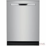 Frigidaire Gallery FGIP2468UF Built-In Undercounter Dishwasher, 24 Exterior Width, 8 Wash Cycles, 2 Loading Racks, Fully Integrated, 14 Capacity (Place Settings), Hard Food Disposal, 49 dB Decibel Level, Stainless Steel colour