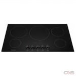 Frigidaire Gallery FGEC3668US, Electric Cooktop, 36 inch, 5 Burners, Glass Ceramic, 3000W, Stainless Steel colour